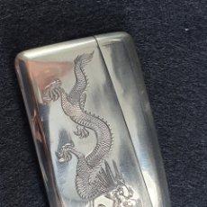 Antigüedades: CAJA EN PLATA LEY CHINO CHINA SIGLO XIX MARCADO CON CONTRASTE. Lote 194541915