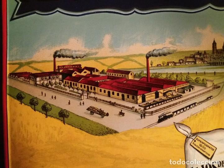 Antigüedades: FORMIDABLE CARTEL CHAPA PLANCHA ABONOS MIRAT AÑOS 30´s LITOGRAFIADA en RELIEVE - Foto 8 - 194542121