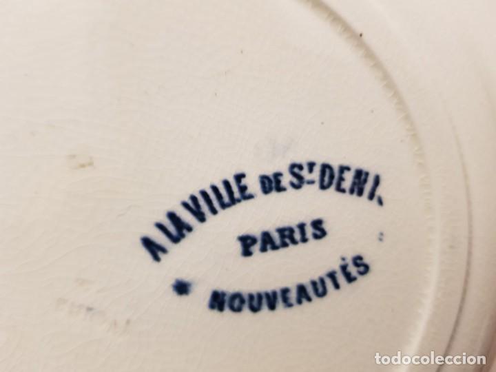 Antigüedades: 6 platos terre de fer motivo época s.XIX , Francia - Foto 2 - 194544408