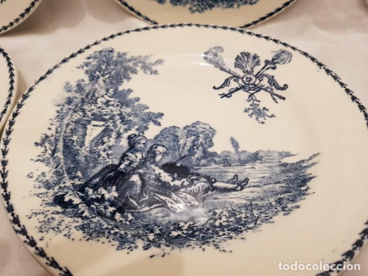 Antigüedades: 6 platos terre de fer motivo época s.XIX , Francia - Foto 3 - 194544408