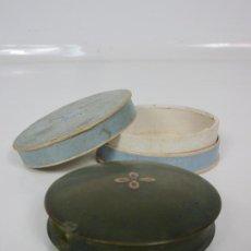 Antigüedades: ANTIGUA CAJA DE RAPE - CAREY VERDE - PINTADA A MANO - CON CAJA, ESTUCHE - S. XVIII-XIX . Lote 194557201