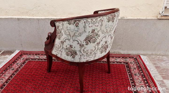 Antigüedades: Butaca antigua estilo imperio Napoleón III. CAOBA. Sillón antiguo, silla descalzadora antigua - Foto 5 - 194537660