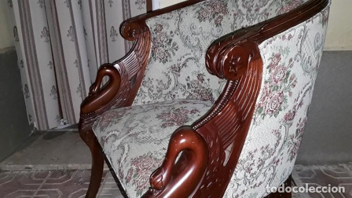 Antigüedades: Butaca antigua estilo imperio Napoleón III. CAOBA. Sillón antiguo, silla descalzadora antigua - Foto 6 - 194537660