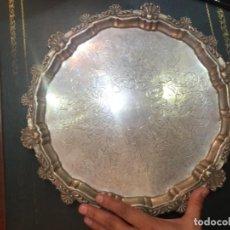 Antigüedades: JOSE AMOR . PLATA CENTRO DE MESA PLATA REPUJADA SIGLO XIX. 1 KG. Lote 194559117
