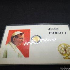 Antigüedades: CARTA CON MONEDA HOMENAJE A JUAN PABLO I. Lote 194571210