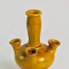 Antigüedades: CANDELABRO DE CERAMICA ESMALTADA. S.XX. . Lote 194571613