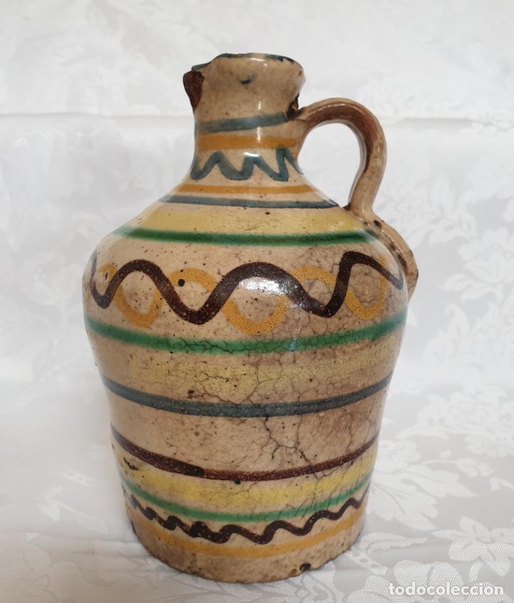 Antigüedades: MUY BONITA ALCUZA,ACEITERA EN CERAMICA DE PUENTE DEL ARZOBISPO,(TOLEDO),S. XIX - Foto 2 - 194572558