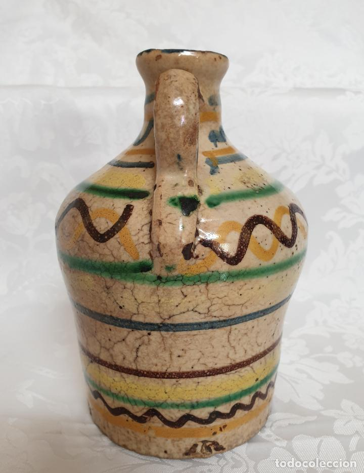 Antigüedades: MUY BONITA ALCUZA,ACEITERA EN CERAMICA DE PUENTE DEL ARZOBISPO,(TOLEDO),S. XIX - Foto 3 - 194572558