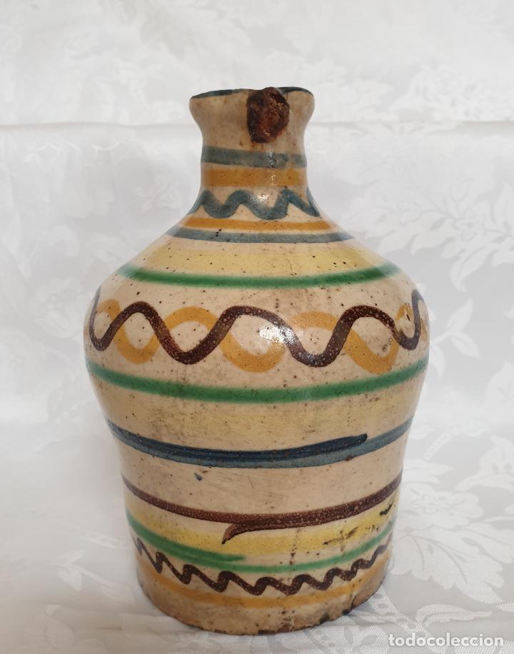 Antigüedades: MUY BONITA ALCUZA,ACEITERA EN CERAMICA DE PUENTE DEL ARZOBISPO,(TOLEDO),S. XIX - Foto 4 - 194572558