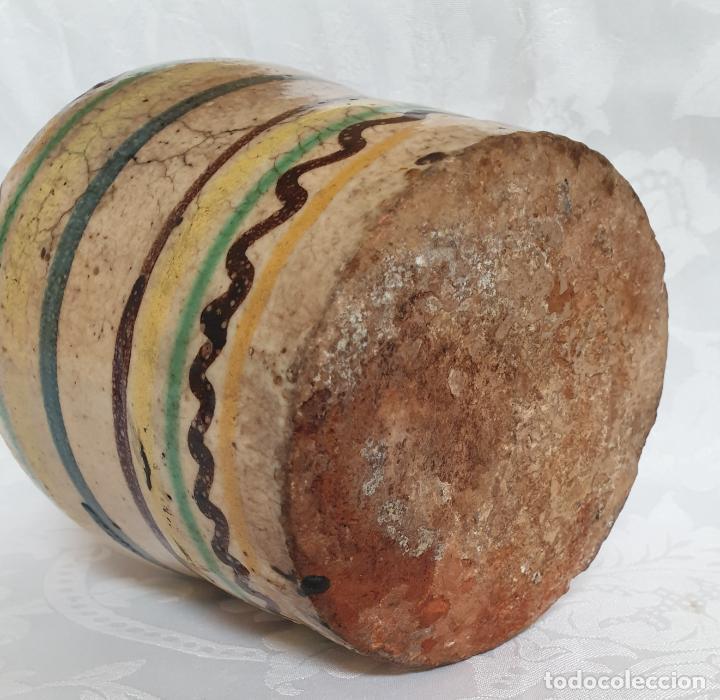 Antigüedades: MUY BONITA ALCUZA,ACEITERA EN CERAMICA DE PUENTE DEL ARZOBISPO,(TOLEDO),S. XIX - Foto 5 - 194572558