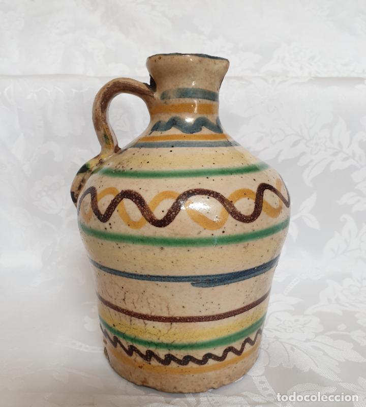 Antigüedades: MUY BONITA ALCUZA,ACEITERA EN CERAMICA DE PUENTE DEL ARZOBISPO,(TOLEDO),S. XIX - Foto 7 - 194572558