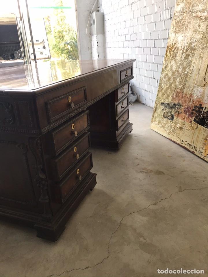 Antigüedades: Mesa despacho - Foto 2 - 194573045