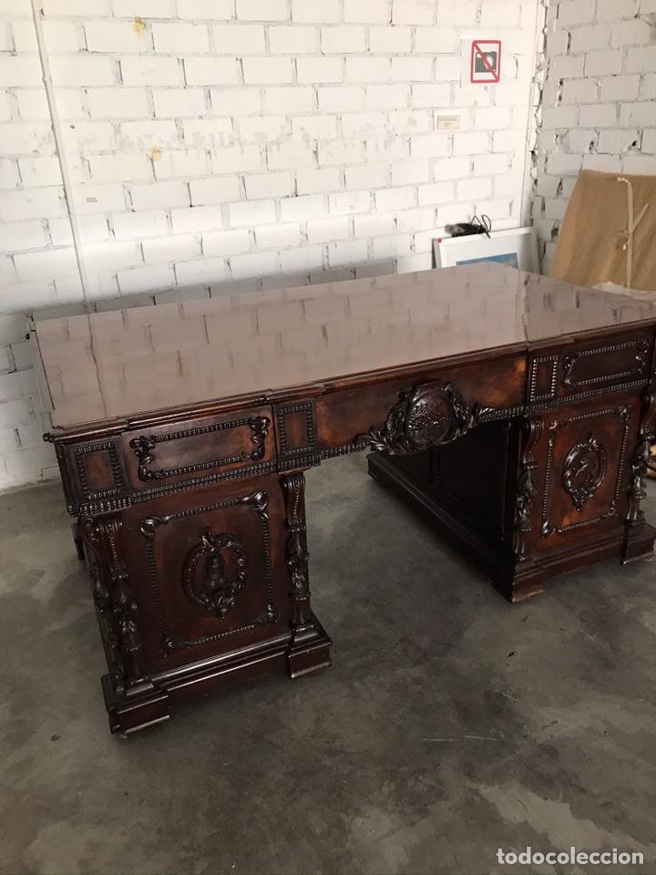 Antigüedades: Mesa despacho - Foto 4 - 194573045