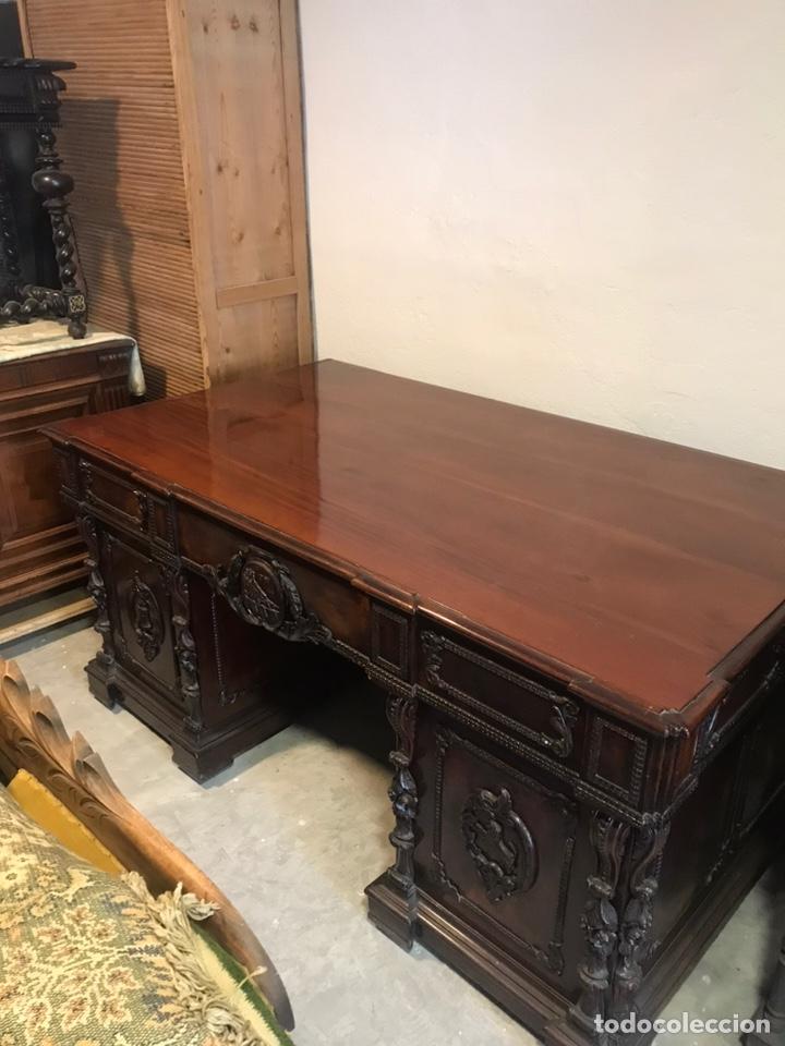 Antigüedades: Mesa despacho - Foto 6 - 194573045