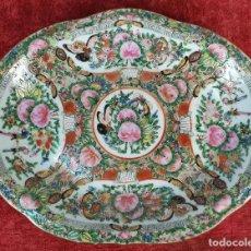 Antigüedades: BANDEJA DE PORCELANA CHINA. FAMILIA ROSA. CANTÓN. DECORADA A MANO. SIGLO XVIII-XIX.. Lote 194573457