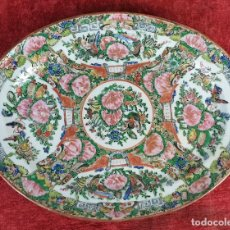 Antigüedades: BANDEJA DE PORCELANA CHINA. FAMILIA ROSA. CANTÓN. DECORADA A MANO. SIGLO XVIII-XIX.. Lote 194575325
