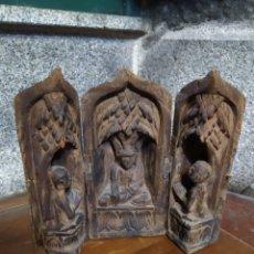 Antigüedades: TRIPTICO DE MADERA BUDA. Lote 194579268