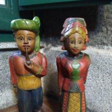 Antigüedades: FIGURAS MADERA CAMPESINOS. Lote 194580737
