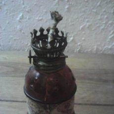 Antigüedades: ANTIGUO QUINQUE DECORACION MAPA MUNDI. Lote 194581035