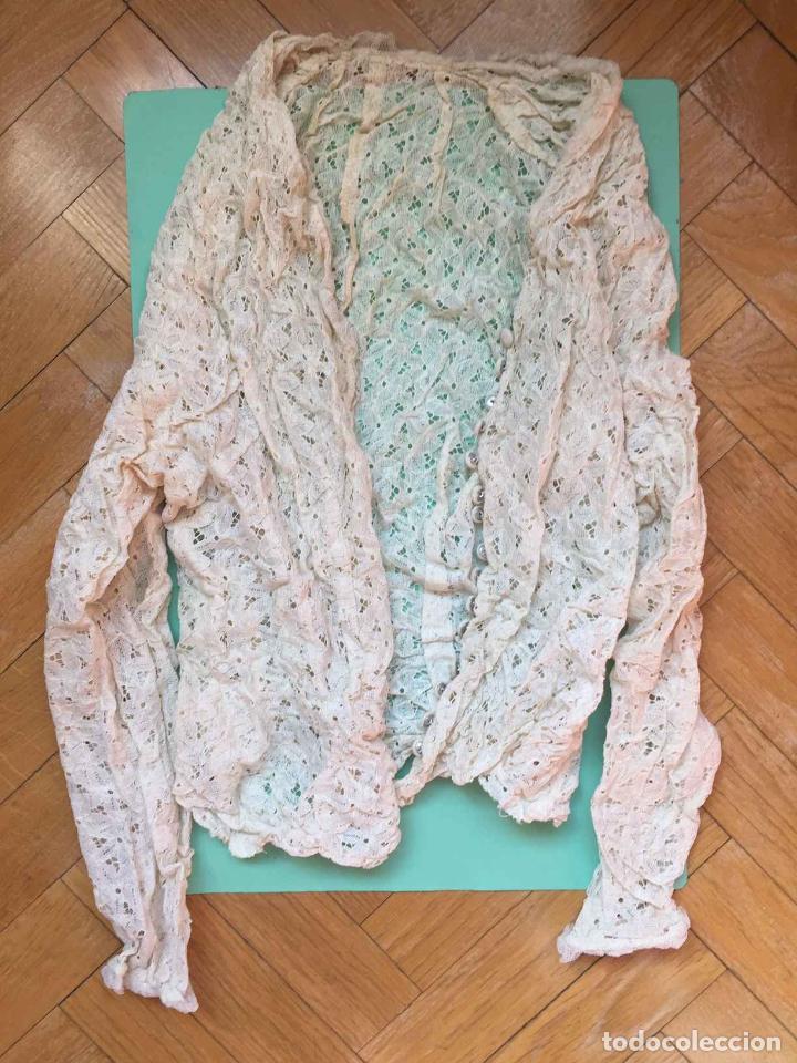 Antigüedades: Camisa encaje bordada a mano (España, 1920's) Original. Coleccionista. - Foto 2 - 194587366