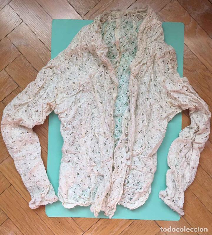 Antigüedades: Camisa encaje bordada a mano (España, 1920's) Original. Coleccionista. - Foto 4 - 194587366
