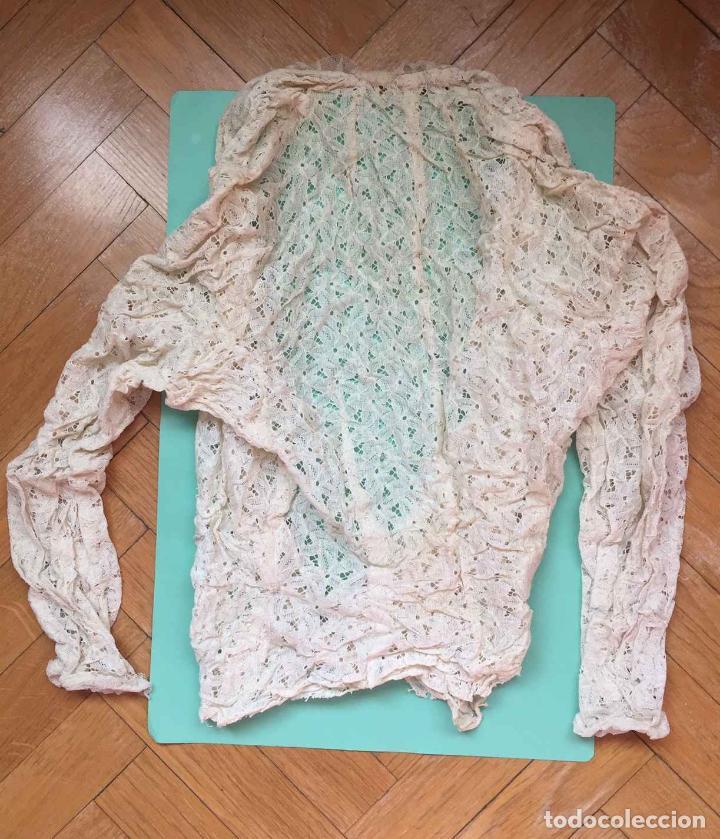 Antigüedades: Camisa encaje bordada a mano (España, 1920's) Original. Coleccionista. - Foto 7 - 194587366