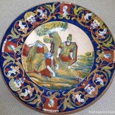 Antigüedades: GRAN PLATO CERÁMICA ITALIANA XVI-XVII. FAYENZA O MONTELUPO.. Lote 194588247