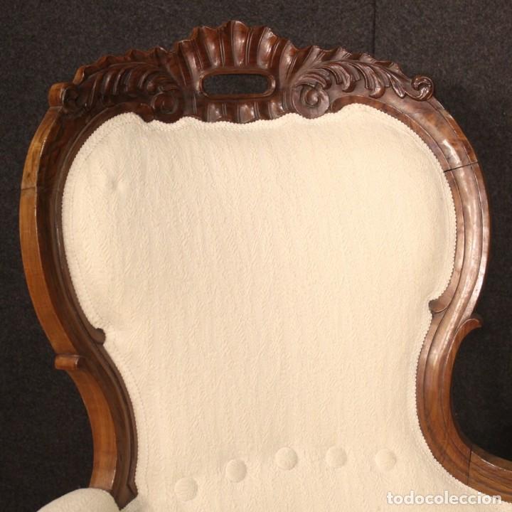 Antigüedades: Sofá italiano en madera de nogal del siglo XIX. - Foto 3 - 194588982