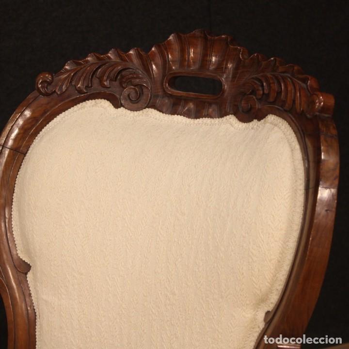Antigüedades: Sofá italiano en madera de nogal del siglo XIX. - Foto 10 - 194588982