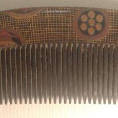 Antigüedades: KUSHI O PEINETA LACADA DE GEISYA JAPONESA PERIODO EDO 1603-1868. Lote 194591557