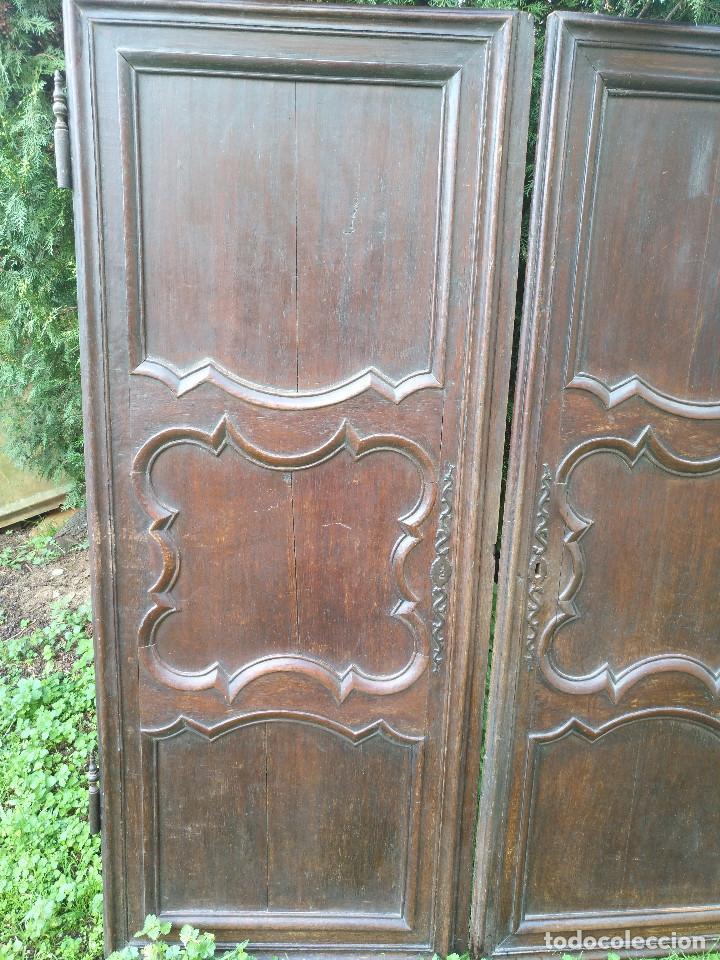 Antigüedades: Puertas antiguas de armario - Foto 2 - 194591636