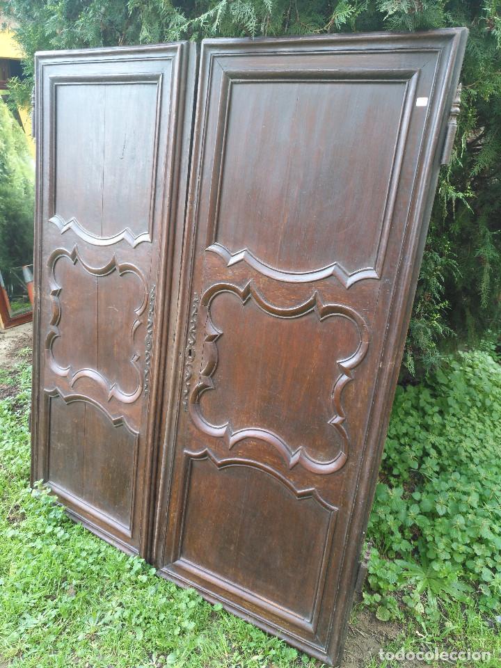 Antigüedades: Puertas antiguas de armario - Foto 10 - 194591636