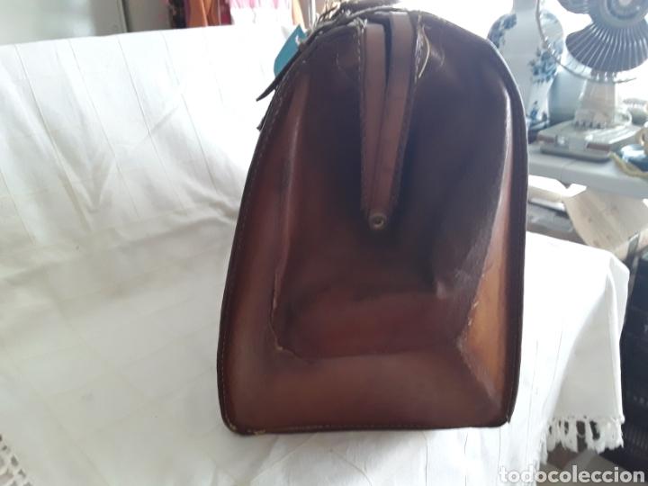 Antigüedades: Antiguo maletin de cuero tamaño grande - Foto 4 - 194593201