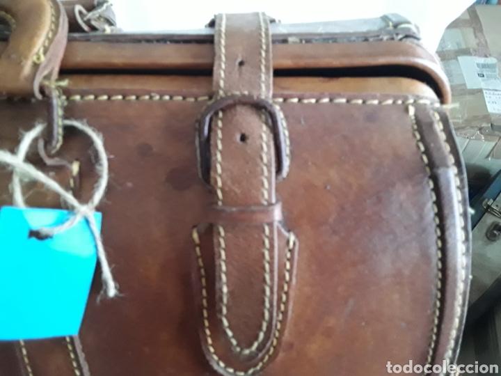 Antigüedades: Antiguo maletin de cuero tamaño grande - Foto 7 - 194593201