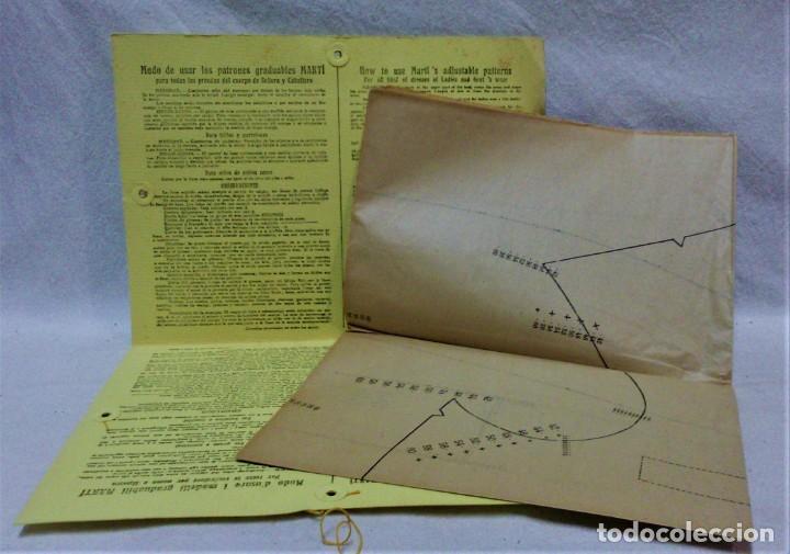 Antigüedades: PATRONES GRADUABLES MARTÍ.PIJAMAS,CHAQUETA Y PANTALÓN.INSTRUCCIONES,2 CARPETAS Y 2 PATRONES - Foto 2 - 194594951