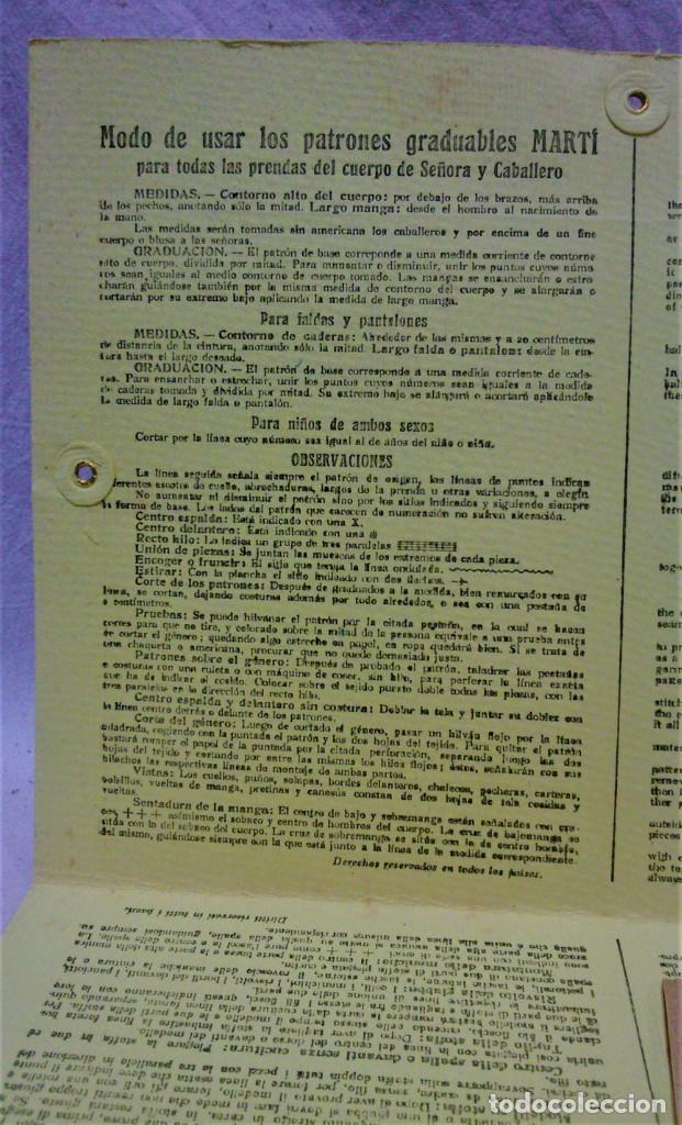 Antigüedades: PATRONES GRADUABLES MARTÍ.PIJAMAS,CHAQUETA Y PANTALÓN.INSTRUCCIONES,2 CARPETAS Y 2 PATRONES - Foto 3 - 194594951