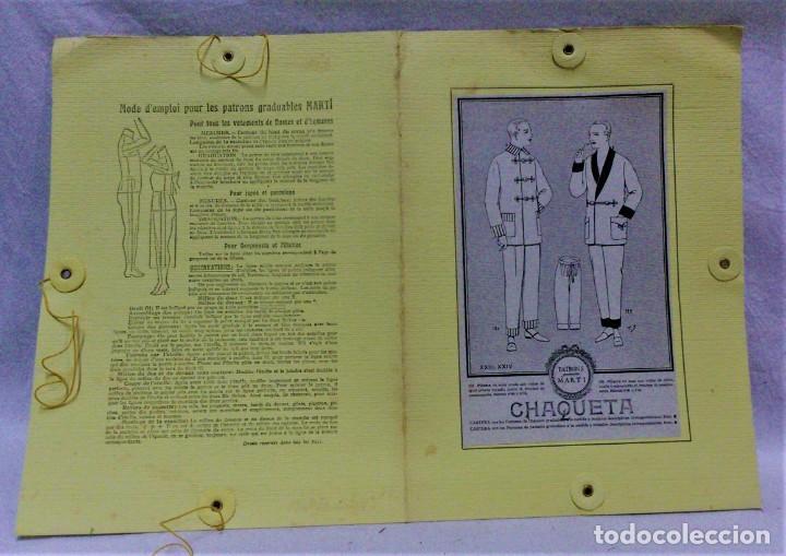 Antigüedades: PATRONES GRADUABLES MARTÍ.PIJAMAS,CHAQUETA Y PANTALÓN.INSTRUCCIONES,2 CARPETAS Y 2 PATRONES - Foto 4 - 194594951