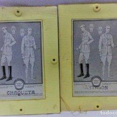 Antigüedades: PATRONES GRADUABLES MARTÍ.TRAJE DE MONTAR A CABALLO Y TRAJE DE CAZA.2 CARPETAS Y 2 PLANCHAS PATRONES. Lote 194595403