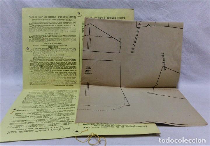 Antigüedades: PATRONES GRADUABLES MARTÍ.TRAJE DE MONTAR A CABALLO Y TRAJE DE CAZA.2 CARPETAS Y 2 PLANCHAS PATRONES - Foto 2 - 194595403