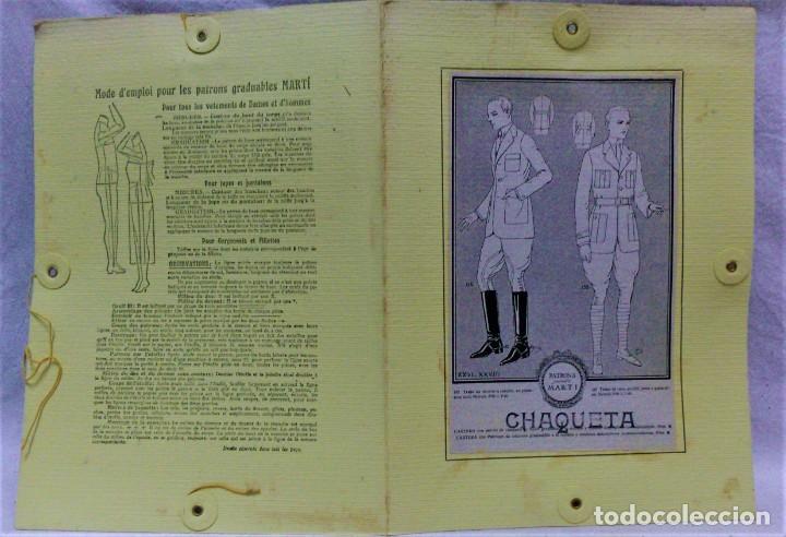 Antigüedades: PATRONES GRADUABLES MARTÍ.TRAJE DE MONTAR A CABALLO Y TRAJE DE CAZA.2 CARPETAS Y 2 PLANCHAS PATRONES - Foto 3 - 194595403