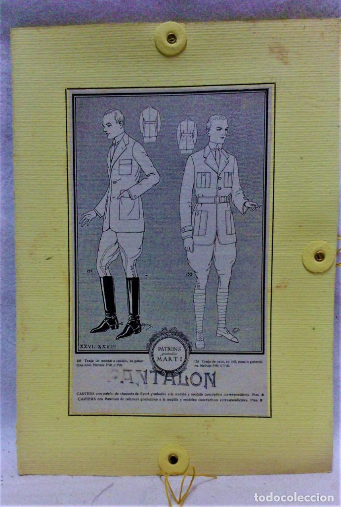 Antigüedades: PATRONES GRADUABLES MARTÍ.TRAJE DE MONTAR A CABALLO Y TRAJE DE CAZA.2 CARPETAS Y 2 PLANCHAS PATRONES - Foto 4 - 194595403