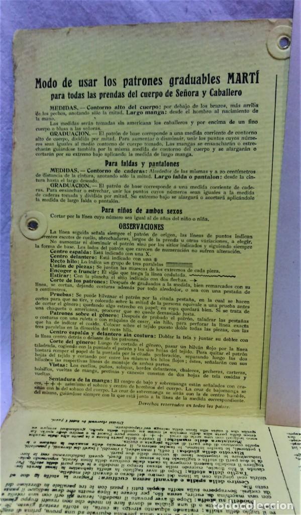 Antigüedades: PATRONES GRADUABLES MARTÍ.CHAQUETAS.INSTRUCCIONES DE USO,LÁMINAS Y 3 PLANCHAS PATRONES - Foto 3 - 194595577