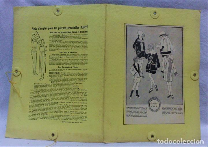 Antigüedades: PATRONES GRADUABLES MARTÍ.CHAQUETAS.INSTRUCCIONES DE USO,LÁMINAS Y 3 PLANCHAS PATRONES - Foto 7 - 194595577