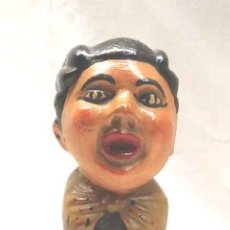 Antigüedades: LA FORANA CABEZUDO DE ZARAGOZA DE FELIX OROZ, ESTUCO POLICROMADO. MED. 20 CM. Lote 194596543