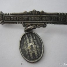 Antigüedades: MEDALLA XIII CON EUCARISTICO INTERNACIONAL BARCELONA 1952. Lote 194597018