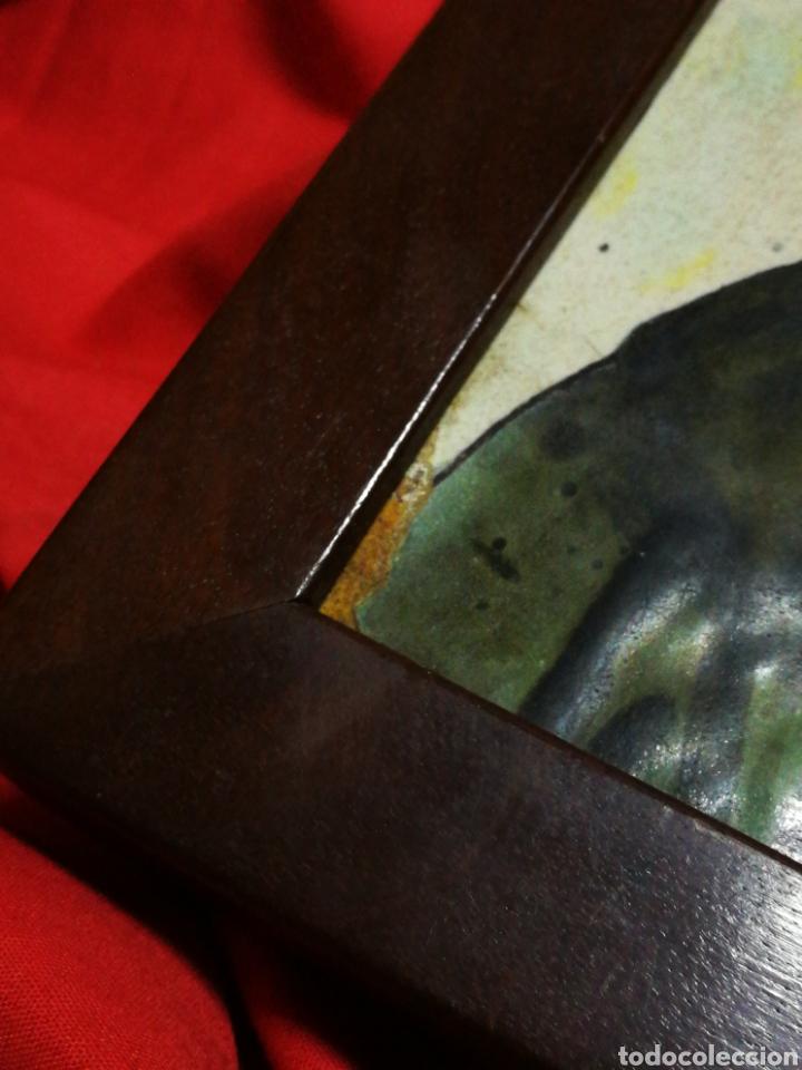 Antigüedades: ANTIGUO AZULEJO RAJOLA CERÁMICA CATALANA- SANT ANTONI DE PÀDUA, S.XVIII-XIX.13X13CM, ENMARCADA.RARO! - Foto 11 - 194603426