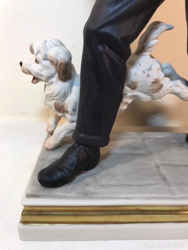 Antigüedades: Figura Porcelana- España- Algora - Vendedor de Periódicos (Oficios)- 29 cm - Foto 2 - 194605692