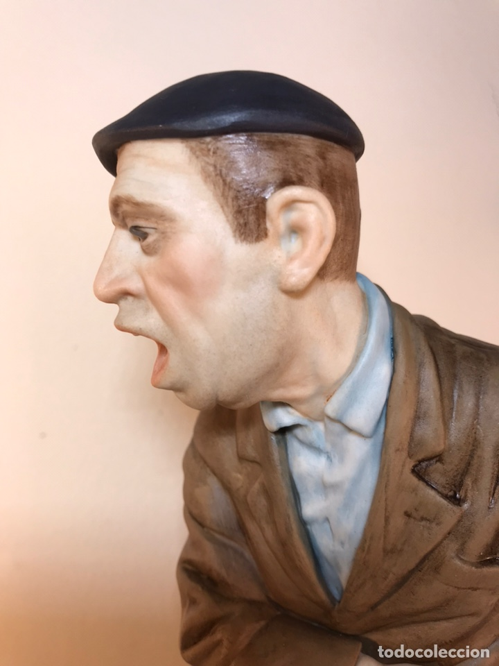 Antigüedades: Figura Porcelana- España- Algora - Vendedor de Periódicos (Oficios)- 29 cm - Foto 6 - 194605692