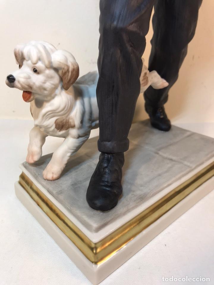 Antigüedades: Figura Porcelana- España- Algora - Vendedor de Periódicos (Oficios)- 29 cm - Foto 10 - 194605692