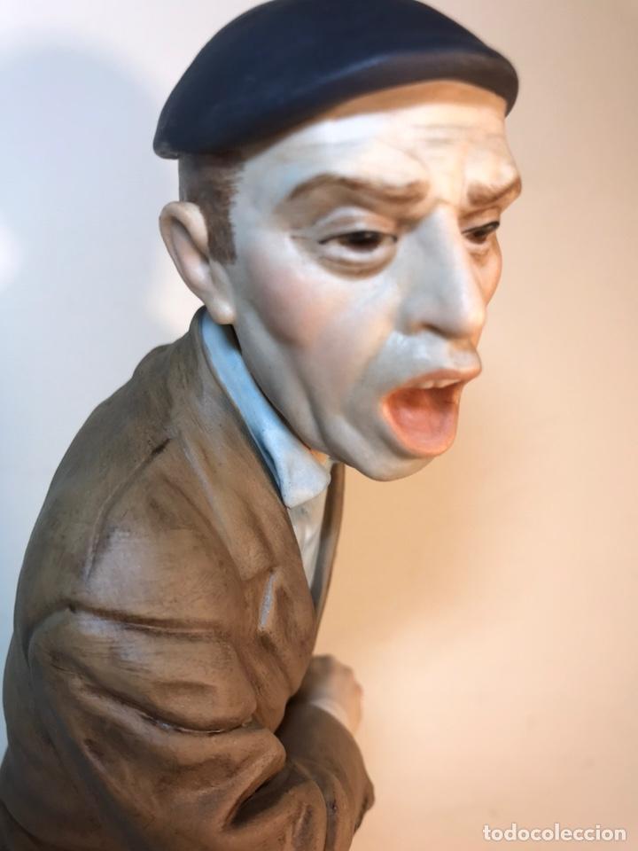 Antigüedades: Figura Porcelana- España- Algora - Vendedor de Periódicos (Oficios)- 29 cm - Foto 15 - 194605692